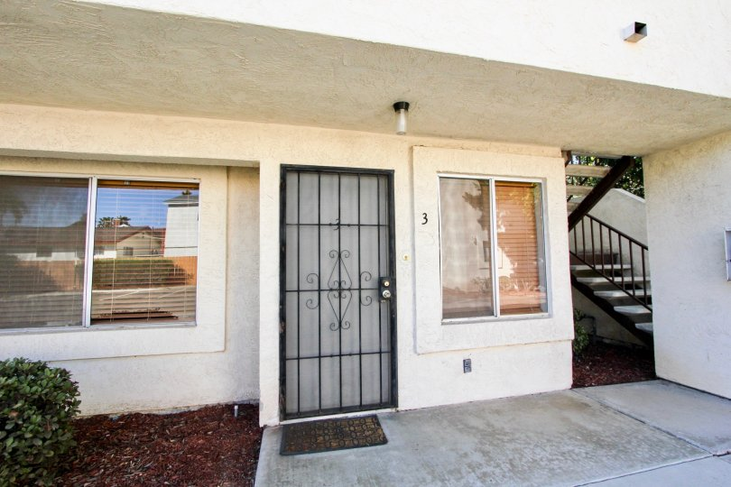 Front entrance view in Jasmine Place, Chula Vista, CA