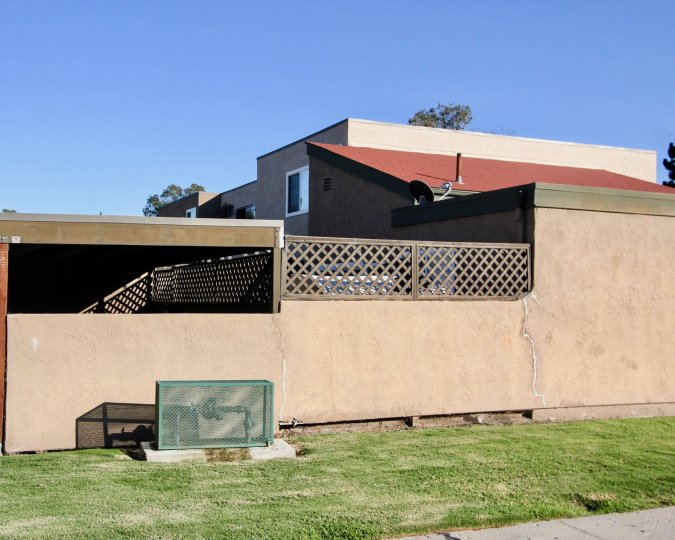A rear side view of the Mendocino Homes in Chula Vista, CA
