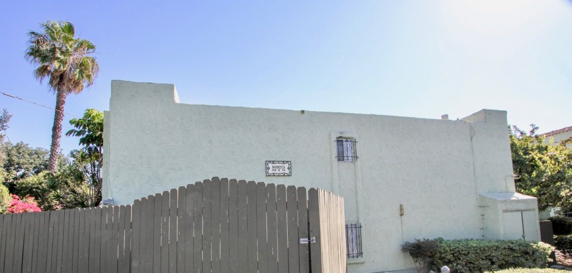 A look at the side of the Mission Gardens Community in sunny Chula Vista, CA
