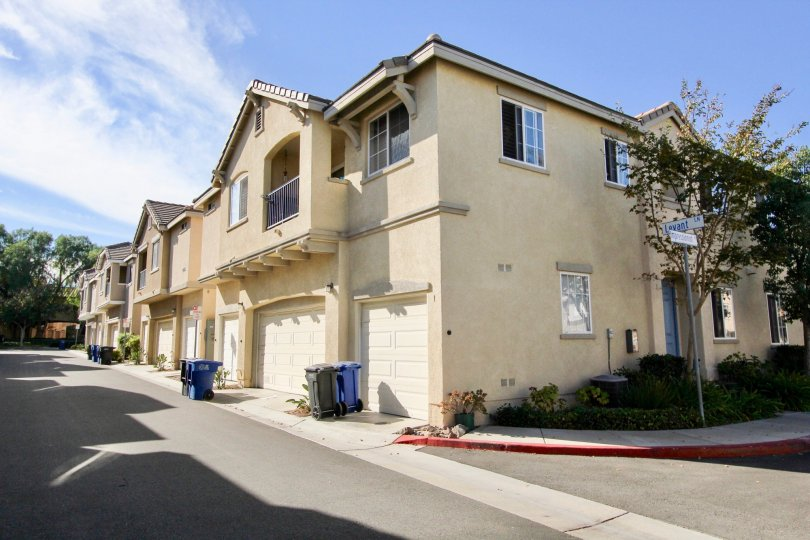 Exterior view of Monet community in Chula Vista, CA on sunny day