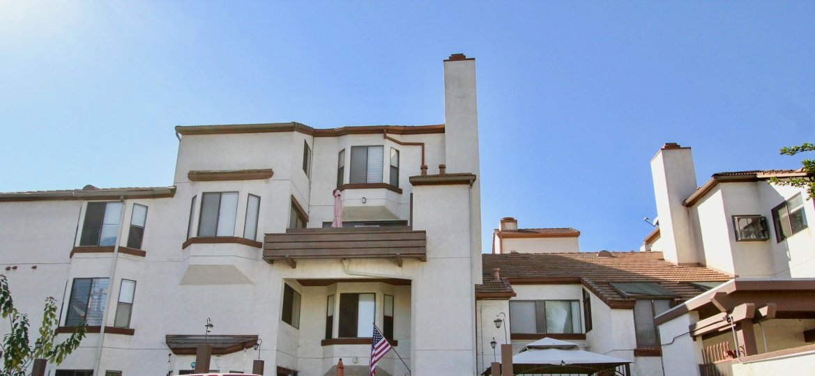 Sunny day in front of house in Parkswoods, Chula Vista, CA
