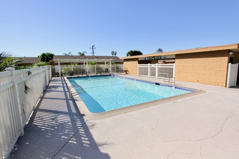 Spacious patio and poolside area great for relaxing.