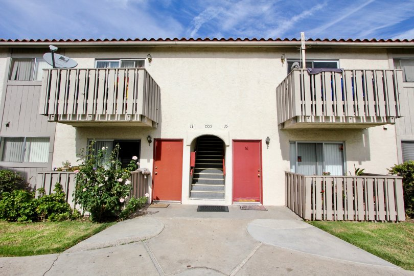 An apartment complex in Chula Vista, California with downstairs and upstairs options