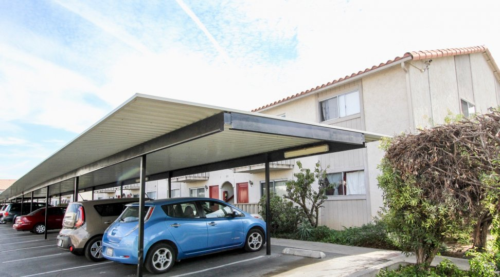 Villa De Anita with it's parking facility, Chula Vista, California