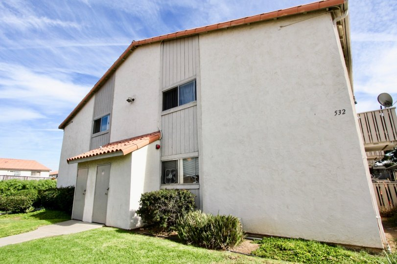 An apartment building at Villa De Anita in Chula Vista, California.