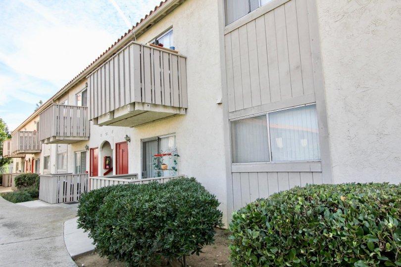 An apartment complex on a sunny day in Villa De Anita, Chula Vista, California