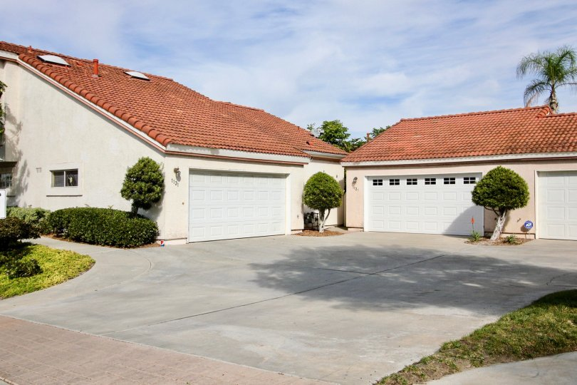 In front of a Residence home front open space with garage in Villa Palmera, Chula Vista, CA