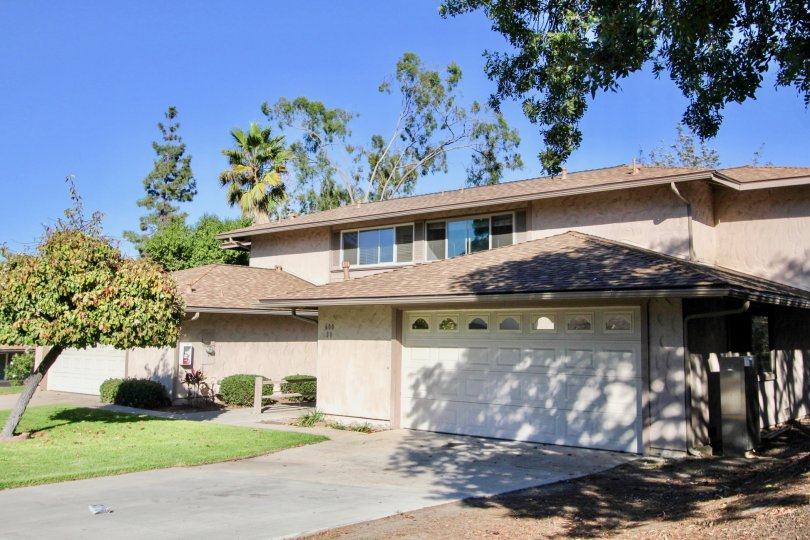 nice big house surrounded by lush greenery and very clear and lovely day in Windsor Heights, chula vista