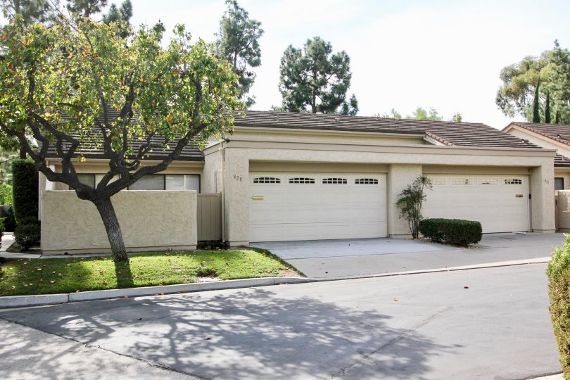 The exterior of a Windsor view home showing the driveway and garage in Chula Vista