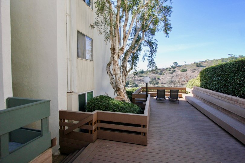 Outdoor deck with view at Bay Ho in Clairemont Mesa, Ca.