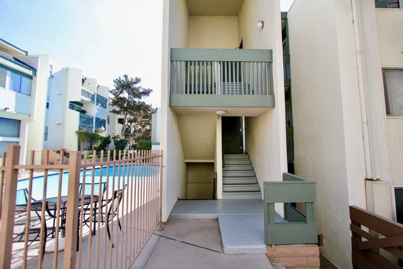 Bay Ho  , Clairemont Mesa  , California,grey steps,brown fence