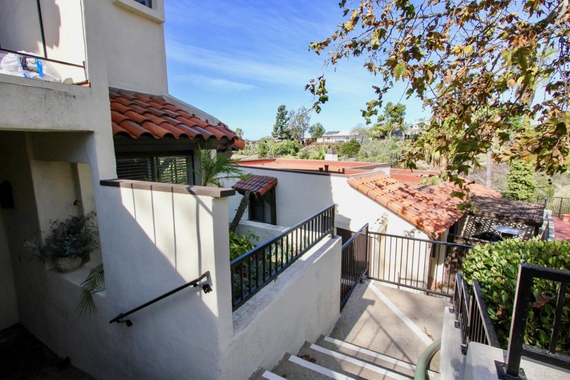 Residential stairway at Bay Vista in Clairemon Mesa California