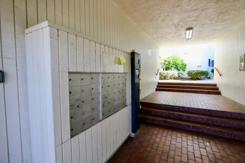 A public locker under a covered walkway in the Bayview Terrace community.