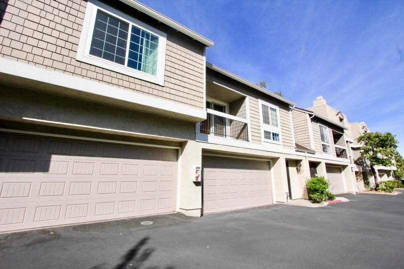 : Canyon Haven, Clairemont Mesa ,California,white border, blue sky