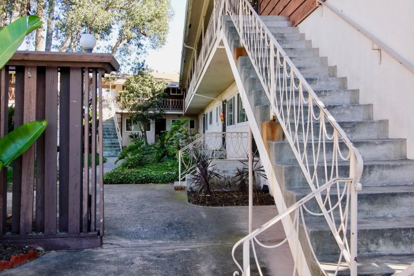 College Gardens ,College Area  ,California,stair case,white hand rails,