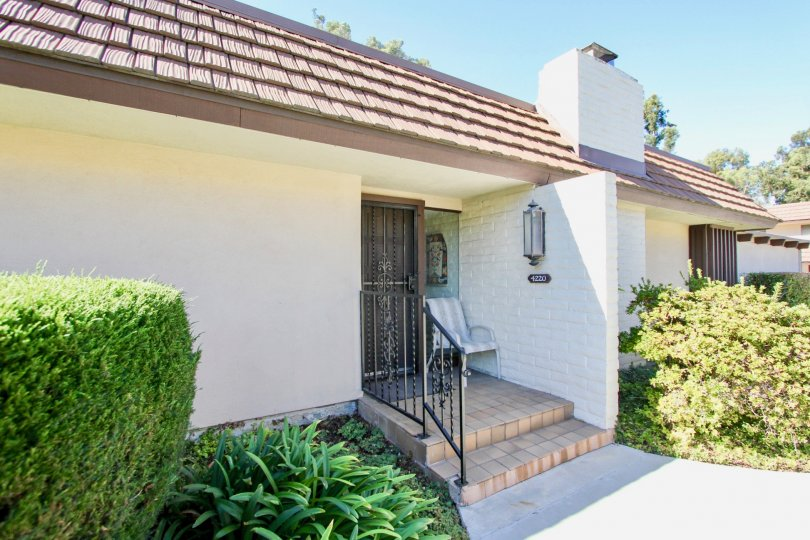 Beautiful white house exterior in Collwood Park, College Area California