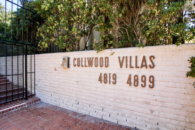 This is a entry picture of Collwood Villas in College Area, California- #'s 4819 - 4899