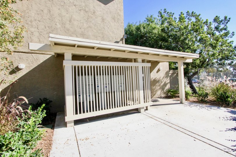 Presidio Park ,College Area  , California,white gate, tree