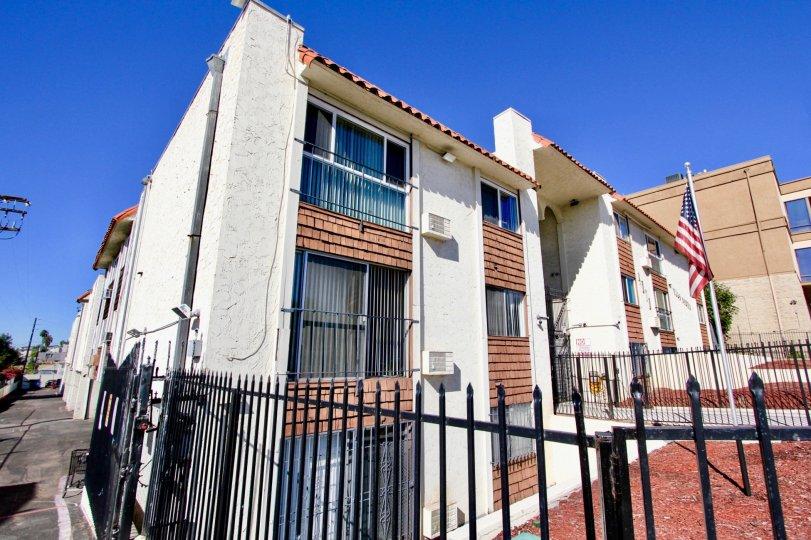 Villa Madrid , College Area .,: California,blue sky,white building