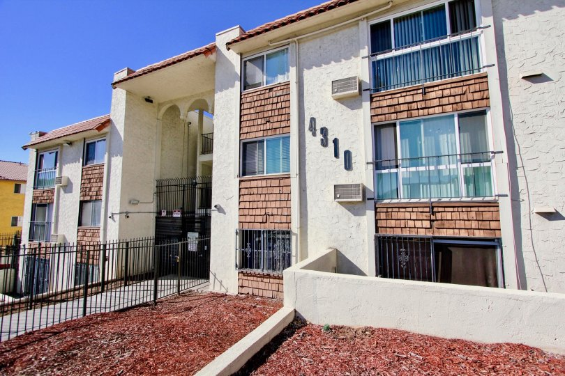 Three story residential building at Villa Madrid in College Area California