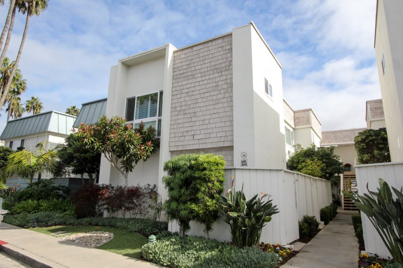 Three story residential units at Antigua Court in Coronado California