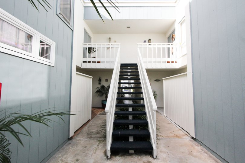 Stairway attached to residence at Antigua Court in Coronado California