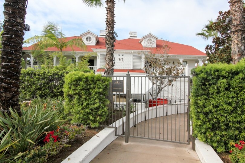 A sunny day in the gated community of Beach Village at the Del