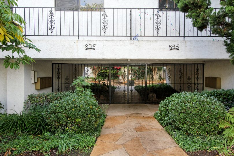 Gated entrance at Casa De Mayo in Coronado California
