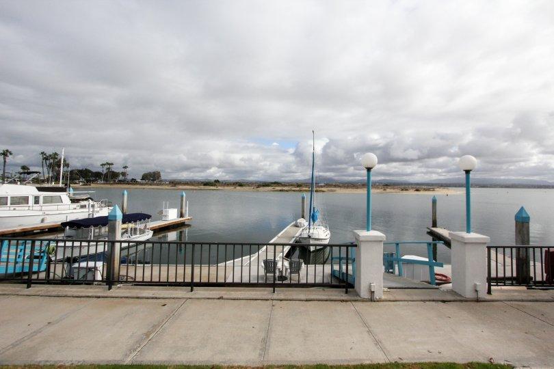 A view off the docks at Coronado Cays in Coronado, CA