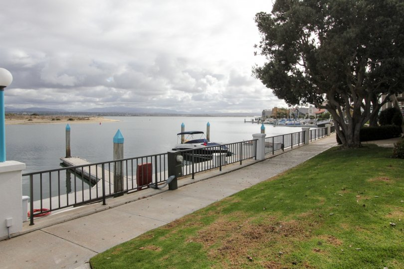 Harbor with boats at Coronado Cays in Coronado California