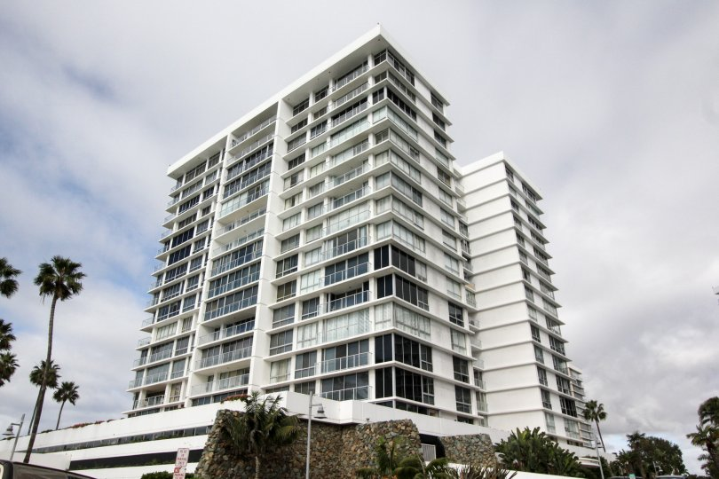 High-rise condo building at Coronado Shores in Coronado California