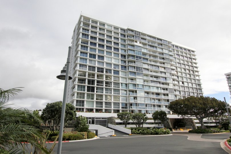 Condominium high rise at Coronado Shores in Coronado California