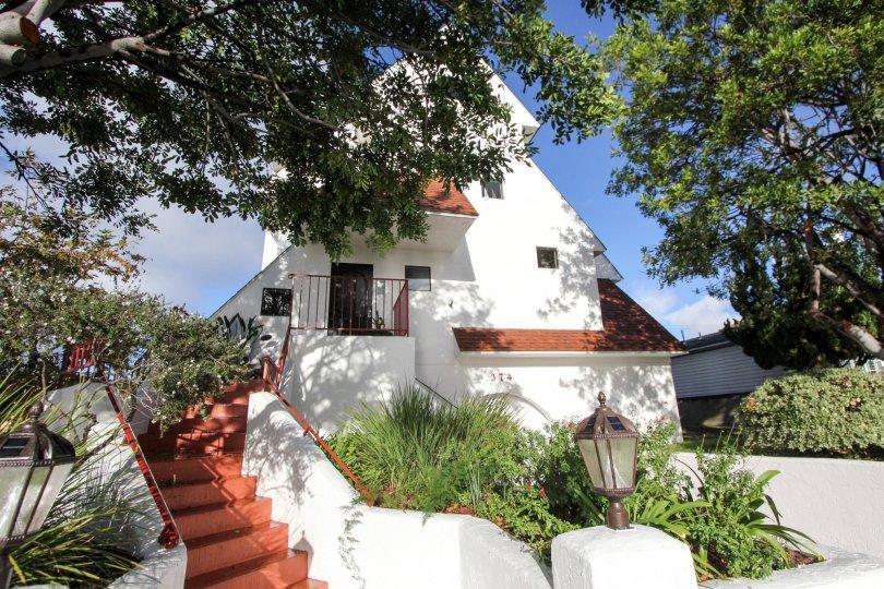 Stairway to residence at Island Village in Coronado California