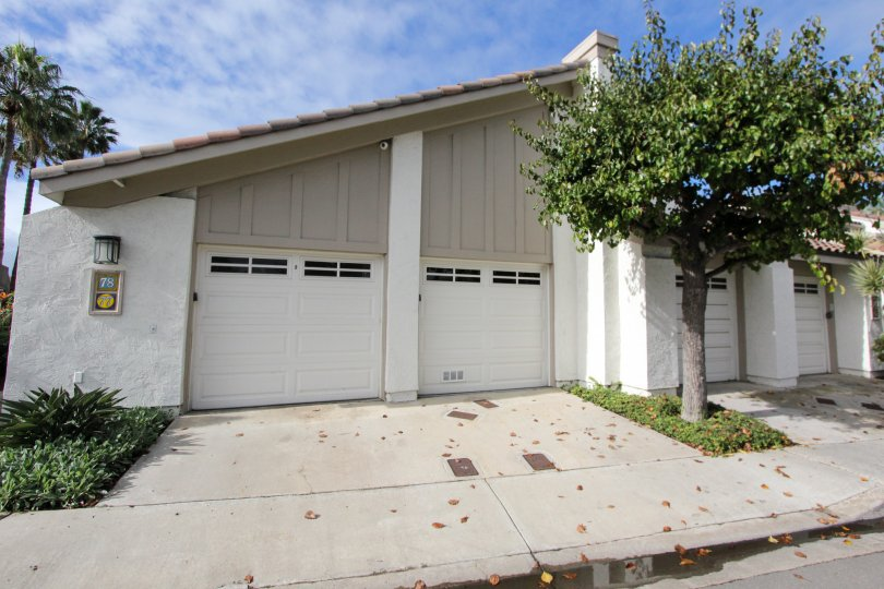 Housing with attached garages at Kingston Court in Coronado California