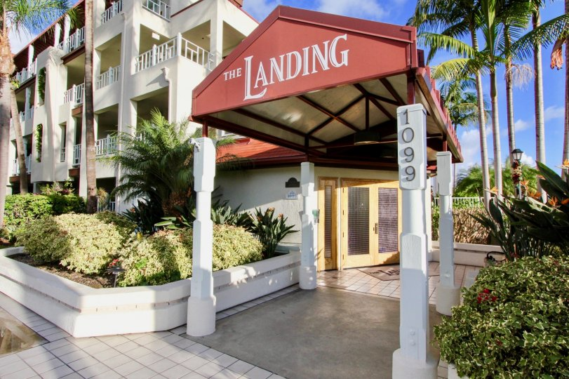 A hotel style entrance that is called The Landing.