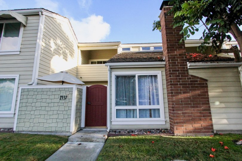 A bright looking home on a sunny day located in Village townhomes.