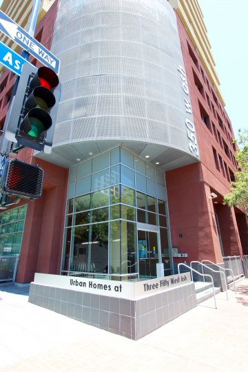 The urban homes building at 350 West Ash in Downtown San Diego CA.