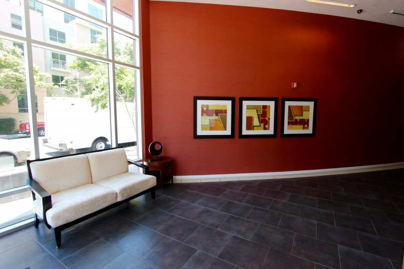 The lobby of 350 West Ash, in Downtown San Diego, CA