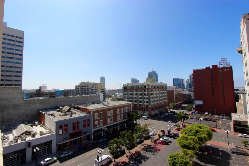 The view from the roof of Samuel Fox Lofts
