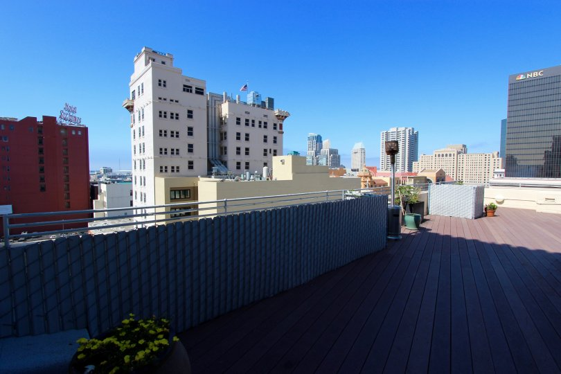 The rooftop view from Samuel Fox Lofts