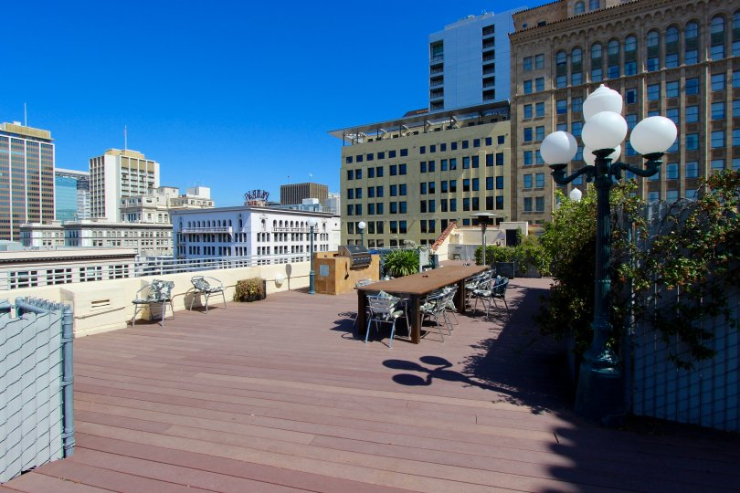 The roof of Samuel Fox Lofts in San Diego