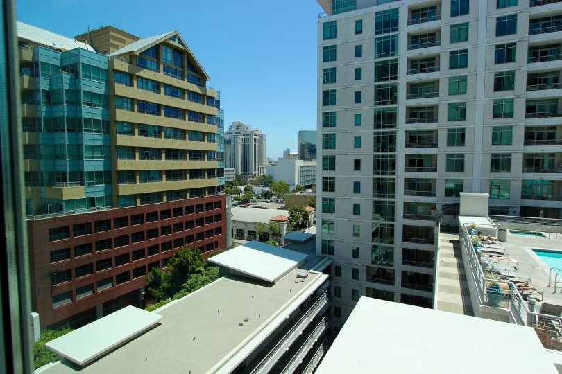 Acqua Vist community with it's elegant highrise look and buildings in Downtown San Diego, California