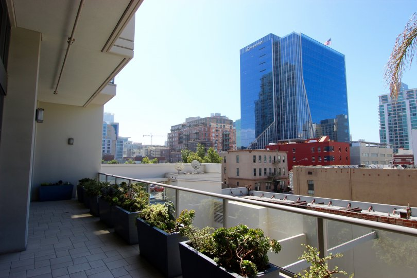 A rooftop view in the Alta community in Downtown San Diego California.