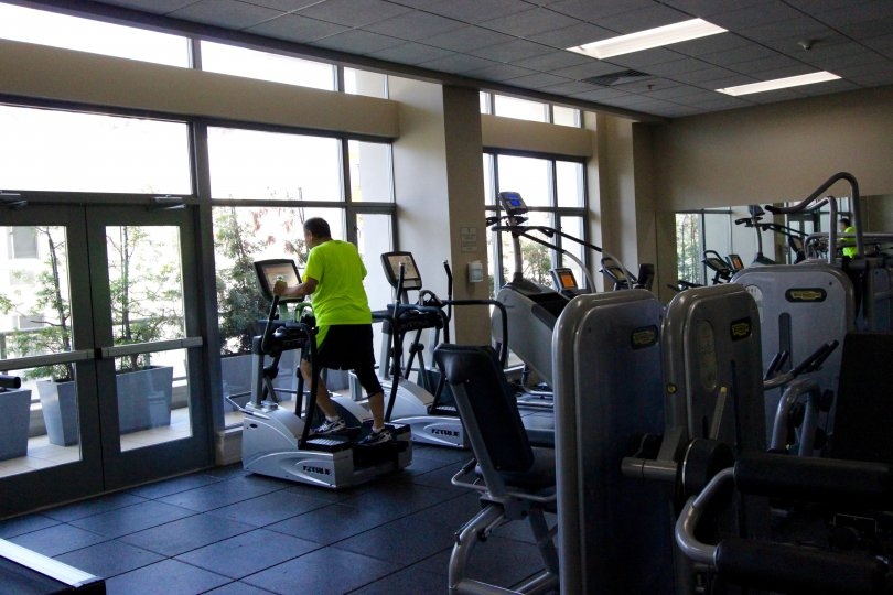 The gym for the residents in the Alta Community in Downtown San Diego California.