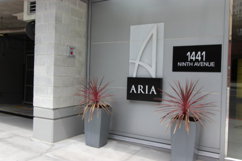 THE 1441 NINTH AVENUE IN THE ARIA WITH THE FLOWER POT, STEEL DOOR, SWITCH BOX