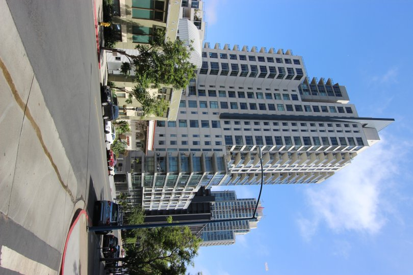 A business building in the Aria community in Downtown San Diego CA