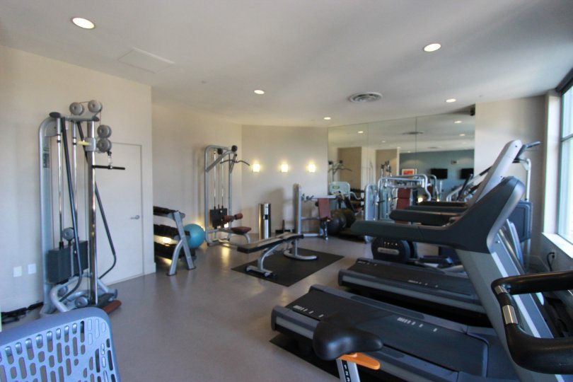 An excercise room of Aria located in Down Town San Diego.