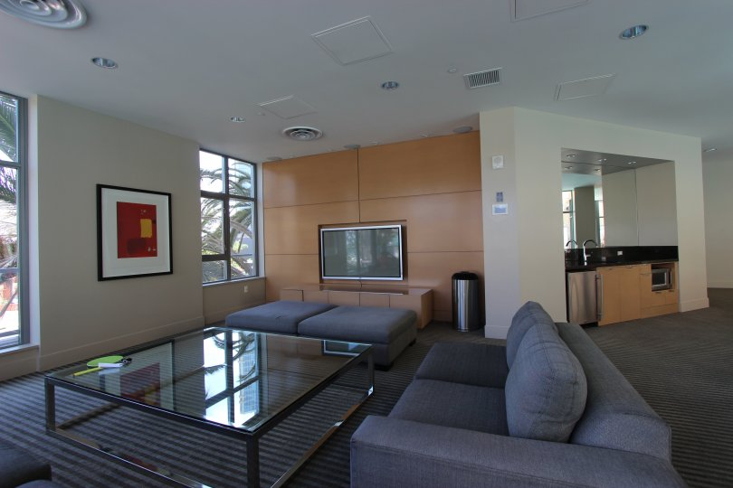 Large living area in Aria Downtown San Diego California