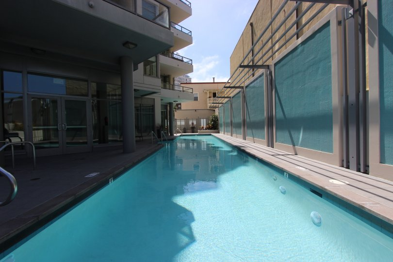 A pool in the Aria community in Downtown San Diego California.