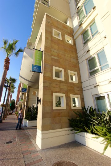 Beautiful modern architecture at Breeza in Sunny Downtown San Diego California